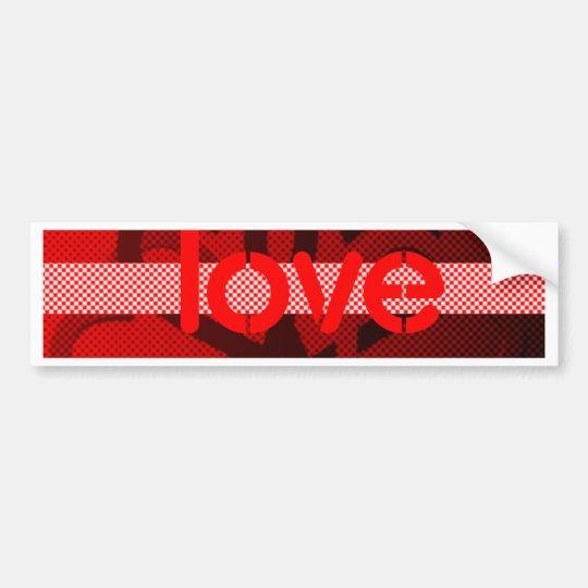 Tarjeta del día de San Valentín Pegatina Para Auto