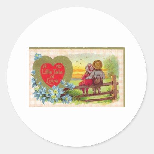 Tarjeta del día de San Valentín Pegatina Redonda