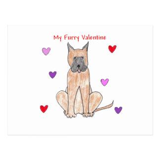 Tarjeta del día de San Valentín peluda de great Postales