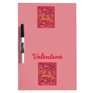 Tarjeta del día de San Valentín Tablero Blanco