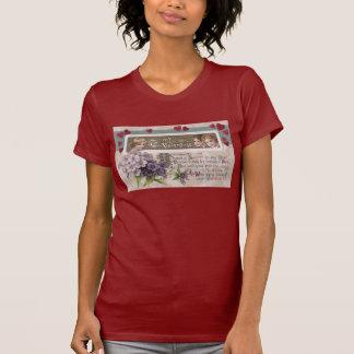 Tarjeta del día de San Valentín púrpura del secret Camiseta