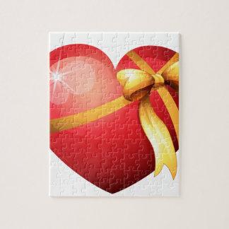Tarjeta del día de San Valentín Puzzle Con Fotos
