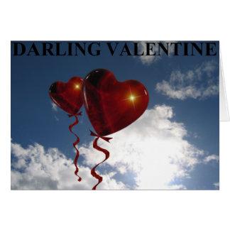 Tarjeta del día de San Valentín querida