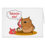 ¿Tarjeta del día de San Valentín quién?