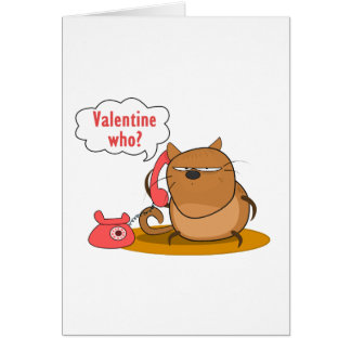 ¿Tarjeta del día de San Valentín quién? Tarjeta De Felicitación