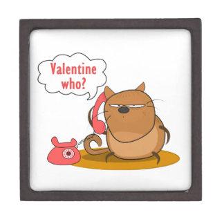 ¿Tarjeta del día de San Valentín quién? Cajas De Recuerdo De Calidad