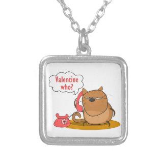 ¿Tarjeta del día de San Valentín quién? Colgante Cuadrado