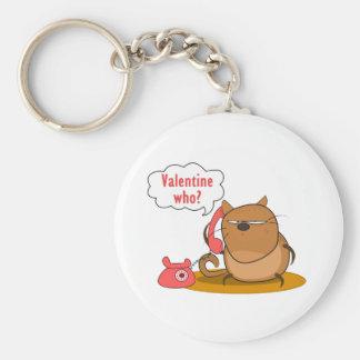 ¿Tarjeta del día de San Valentín quién? Llavero Redondo Tipo Pin