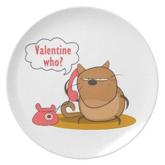 ¿Tarjeta del día de San Valentín quién? Plato