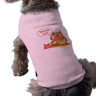 ¿Tarjeta del día de San Valentín quién? Playera Sin Mangas Para Perro