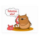 ¿Tarjeta del día de San Valentín quién? Tarjetas Postales