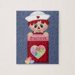 Tarjeta del día de San Valentín Raggedy retra del  Puzzle Con Fotos