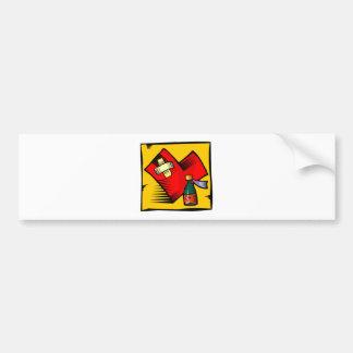 Tarjeta del día de San Valentín reparada del coraz Pegatina Para Auto