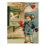 Tarjeta del día de San Valentín retra C del Cupid  Postales