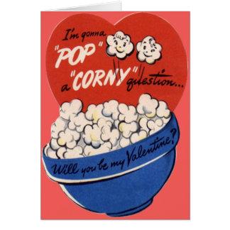 Tarjeta del día de San Valentín retra de las palom