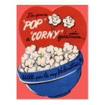 Tarjeta del día de San Valentín retra de las palom Tarjeta Postal
