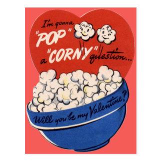 Tarjeta del día de San Valentín retra de las Tarjeta Postal