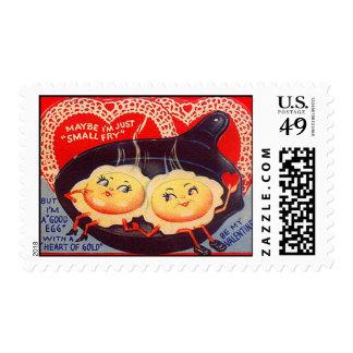 Tarjeta del día de San Valentín retra de los Sellos