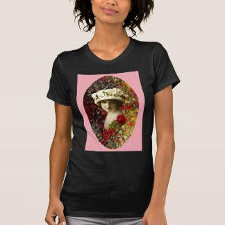 Tarjeta del día de San Valentín retra del collage Camiseta