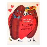 Tarjeta del día de San Valentín retra del perrito  Tarjeta Postal