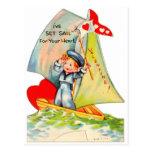 ¡Tarjeta del día de San Valentín retra del vintage Postales