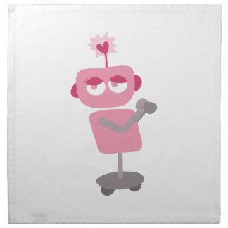 Tarjeta del día de San Valentín robótica Servilletas De Papel