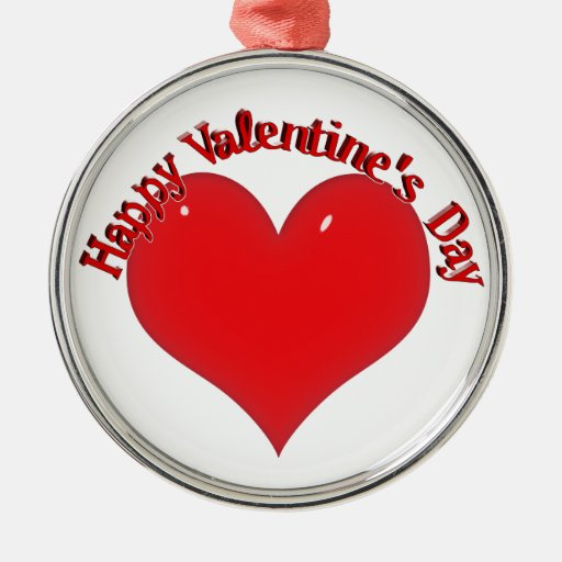 Tarjeta del día de San Valentín roja brillante del Ornamentos Para Reyes Magos