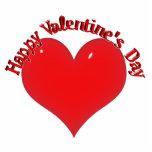 Tarjeta del día de San Valentín roja brillante del Escultura Fotográfica