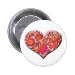 Tarjeta del día de San Valentín roja del vector de Pin
