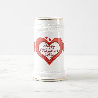 Tarjeta del día de San Valentín roja moldeada del Jarra De Cerveza