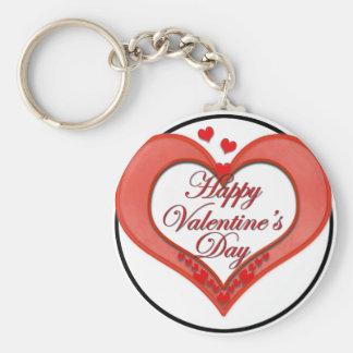 Tarjeta del día de San Valentín roja moldeada del  Llaveros