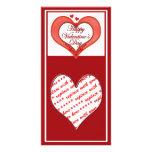 Tarjeta del día de San Valentín roja moldeada del  Tarjeta Personal Con Foto