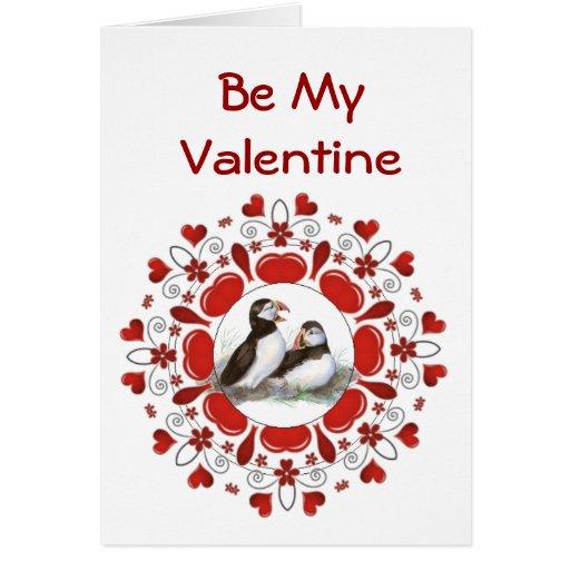 Tarjeta del día de San Valentín romántica del pája