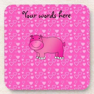 Tarjeta del día de San Valentín rosada de los cora Posavasos