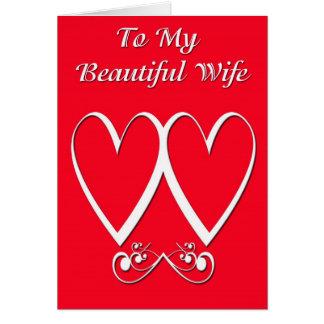 Tarjeta del día de San Valentín sana del marido