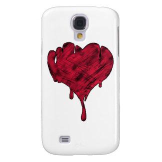 Tarjeta del día de San Valentín sangrienta Funda Para Galaxy S4