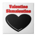 Tarjeta del día de San Valentín Shmalentine Tejas Cerámicas