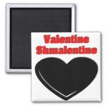 Tarjeta del día de San Valentín Shmalentine Imán De Frigorifico