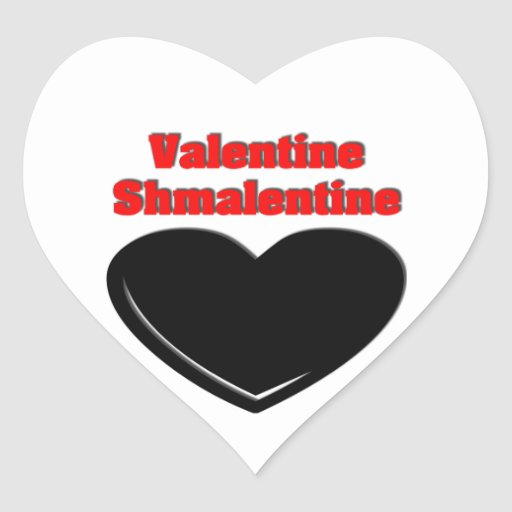 Tarjeta del día de San Valentín Shmalentine Calcomanías Corazones Personalizadas