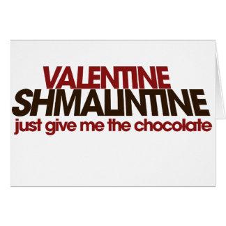 Tarjeta del día de San Valentín Shmalintine