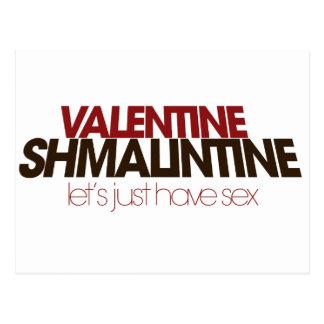 Tarjeta del día de San Valentín Shmalintine Tarjetas Postales