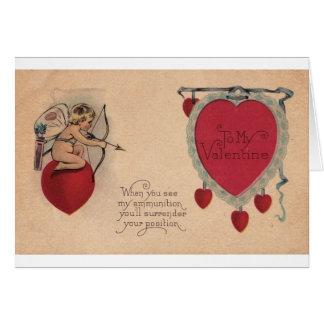 Tarjeta del día de San Valentín siniestra