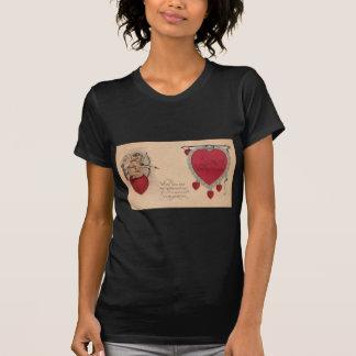 Tarjeta del día de San Valentín siniestra Camisetas