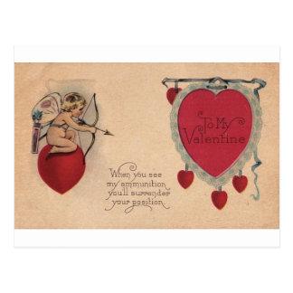 Tarjeta del día de San Valentín siniestra Postal