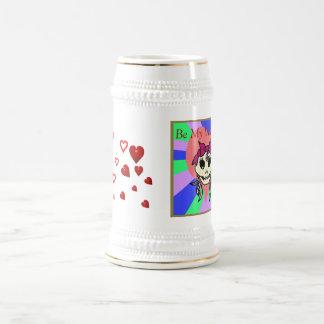 Tarjeta del día de San Valentín Stein del chica Jarra De Cerveza