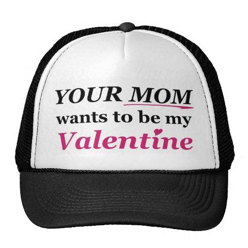 ¡Tarjeta del día de San Valentín - su mamá! Gorras De Camionero