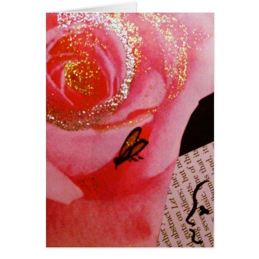 Tarjeta del día de San Valentín subió con oro
