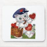 Tarjeta del día de San Valentín Tapetes De Ratón