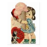 Tarjeta del día de San Valentín Tarjeta Postal
