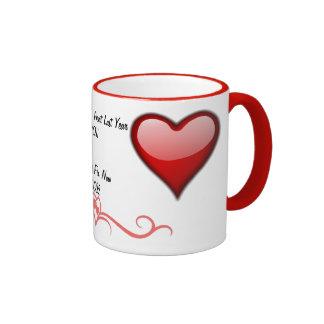 Tarjeta del día de San Valentín Tazas